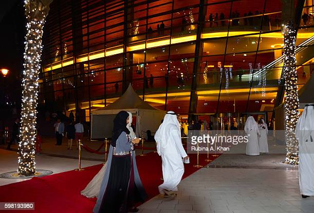 Opera enthusiasts on opening night at the Dubai Opera on August 31 2016 in Dubai United Arab Emirates
