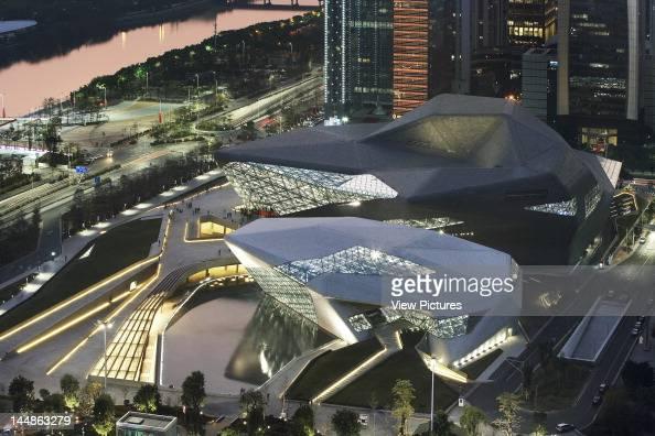 Zaha Hadid Guangzhou Opera House Zaha Hadid Architects Guangzhou China Aerial View