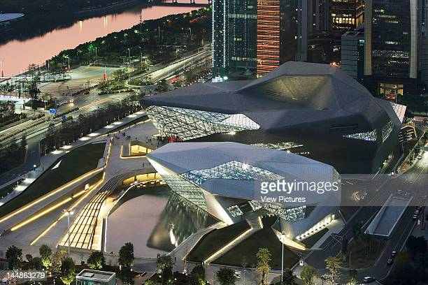 Zaha Hadid Guangzhou Opera House Zaha Hadid Architects Guangzhou China Aerial View
