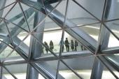Zaha Hadid Guangzhou Opera House Zaha Hadid Architects Guangzhou China Exterior Detail Through Glazing