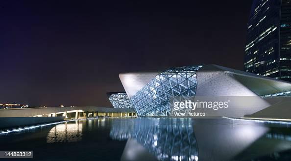 Zaha Hadid Guangzhou Opera House Zaha Hadid Architects Guangzhou China 2011 View Across Lake