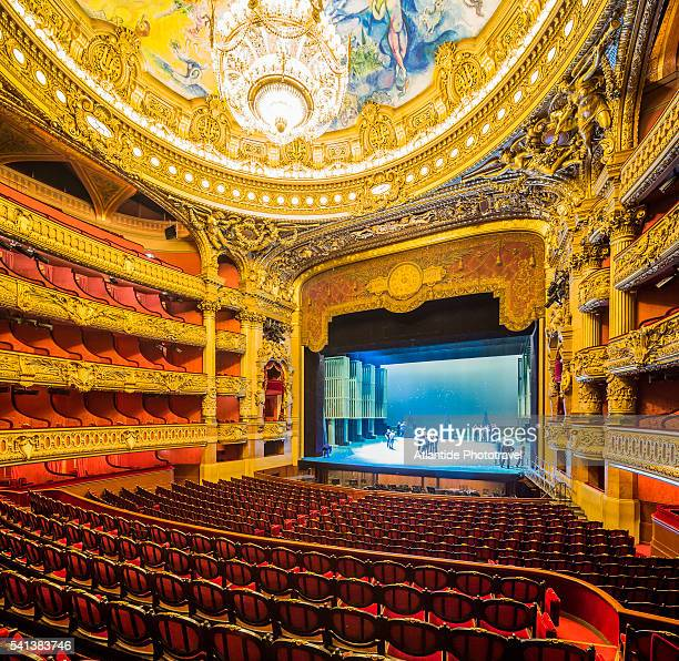 Opera (Opera House) National de Paris, or Palais (palace) Garnier, view of the Auditorium during the preparation of a scenography