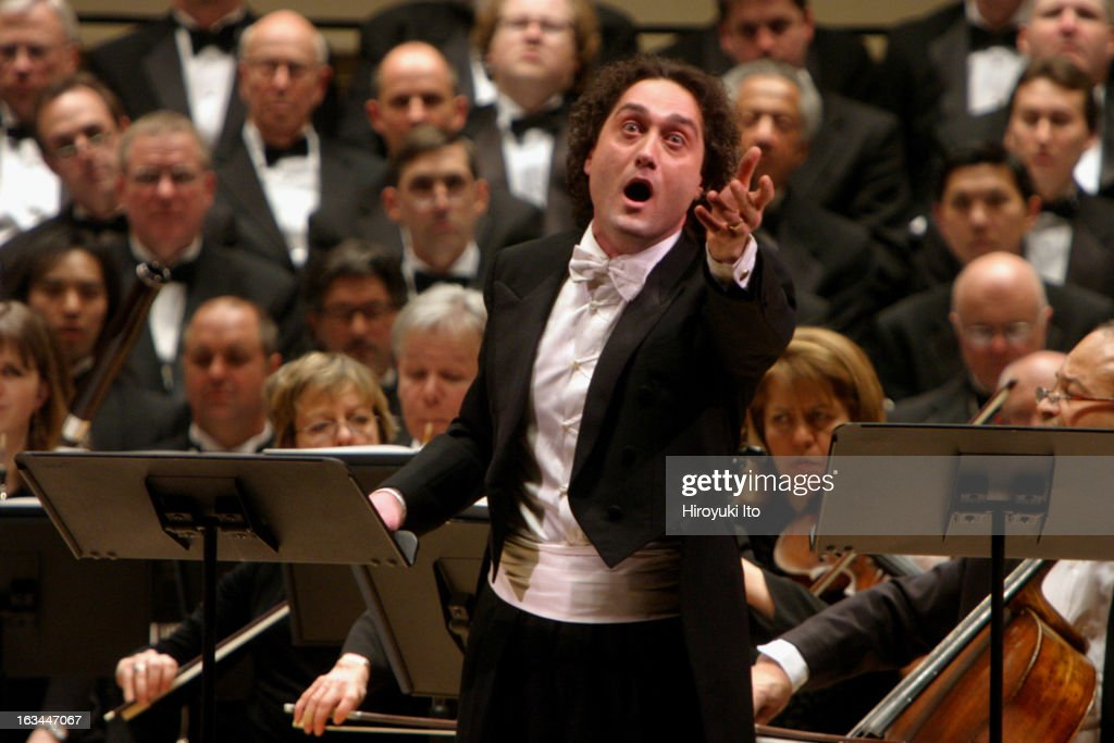 Opera Orchestra of New York performing Francesco Cilea's 'L'Arlesiana' at Carnegie Hall on Wednesday night February 21 2007This imageThe tenor...