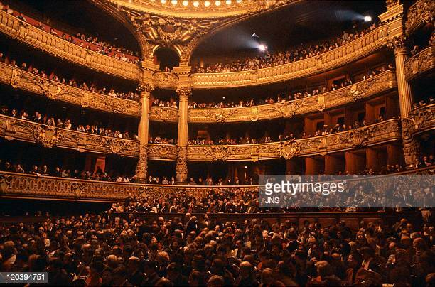 Opera Palais Garnier in Paris France The public the room the lodge