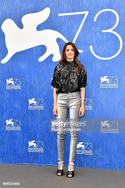 'Opera Prima Luigi de Laurentis' jury member Pilar Lopez de Ayala attends the photocall of the jury during the 73rd Venice Film Festival on August 31...