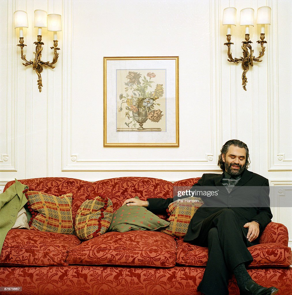 Opera singer Andrea Bocelli poses for a portrait shoot for the Sunday Telegraph in London on February 6, 2003.