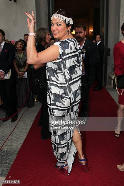 Opera singer Anna Netrebko attends the 'Guillaume Tell' Opera Premiere at the Opera Festival Opening In Munich on June 28 2014 in Munich Germany