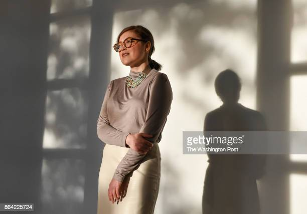 Opera singer Charity Sunshine TillemannDick poses for a photo at the University of Maryland on October 19 2017 in College Park Md Charity is the...