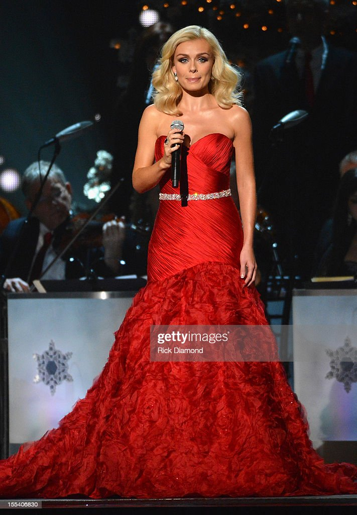 Opera singer Katherine Jenkins performs during the 2012 Country Christmas concert on November 3, 2012 at the Bridgestone Arena in Nashville, Tennessee. The special airs Thursday, December 20 from 9:00-11:00 p.m., ET on the ABC Television Network.