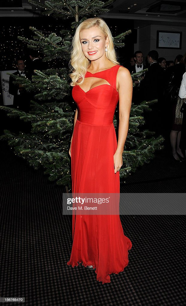 Opera singer Katherine Jenkins switches on the St James' Church Christmas Lights on Jermyn Street on November 20, 2012 in London, England.
