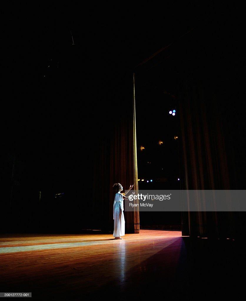 Opera singer performing on stage