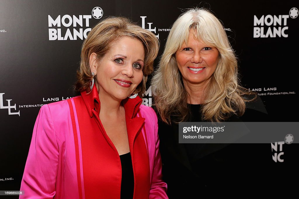 Opera Singer Renée Fleming and Montblanc Director PR International and Cultural Affairs, Ingrid Roosen-Trinks attend The Lang Lang International Music Foundation Inaugural Gala supported by Montblanc at 10 on The Park on June 3, 2013 in New York City.