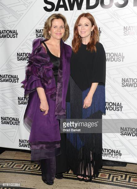 Opera Singer Renee Fleming and Julianne Moore attend the 2017 National Sawdust Spring Gala at Gotham Hall on May 3 2017 in New York City