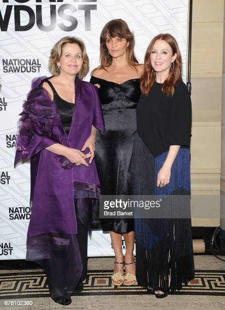 Opera Singer Renee Fleming Helena Christensen and Julianne Moore attend the 2017 National Sawdust Spring Gala at Gotham Hall on May 3 2017 in New...