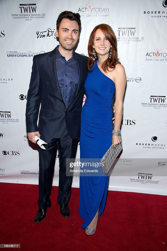 Opera singers George Komsky (L) and Becca Stockton arrive at the ACT Today!'s 7th Annual Denim & Diamonds For Autism Benefit on November 3, 2012 in Malibu, California.