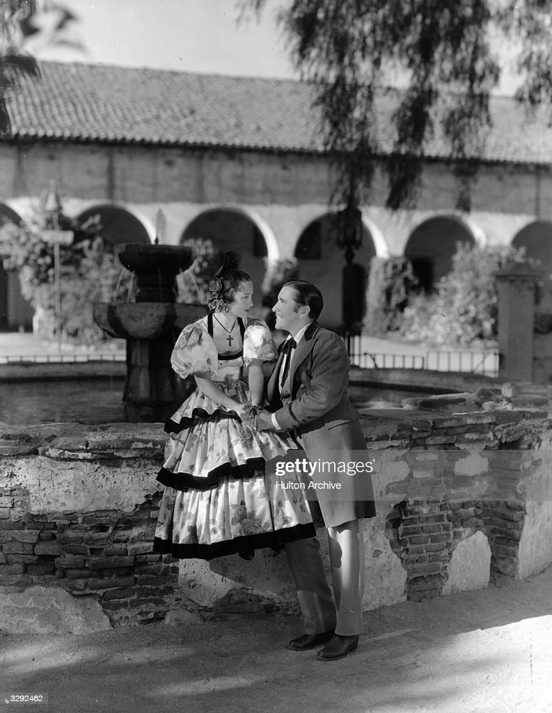 Opera singers John Boles and Gladys Swarthout try their hands at acting in the film 'Rose Of The Rancho' a story of Spanish settlers in California...