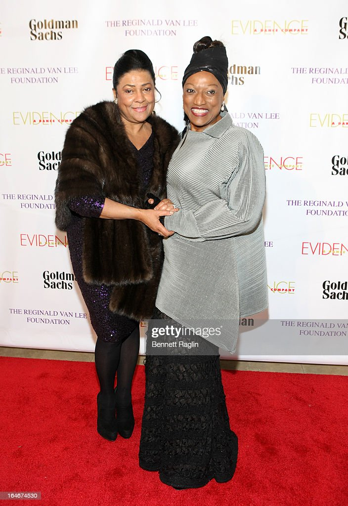 Opera Singers <a gi-track='captionPersonalityLinkClicked' href=/galleries/search?phrase=Kathleen+Battle&family=editorial&specificpeople=233514 ng-click='$event.stopPropagation()'>Kathleen Battle</a> and <a gi-track='captionPersonalityLinkClicked' href=/galleries/search?phrase=Jessye+Norman&family=editorial&specificpeople=239491 ng-click='$event.stopPropagation()'>Jessye Norman</a> attends the Evidence, A Dance Company 9th annual Torch Ball at The Plaza Hotel on March 25, 2013 in New York City.
