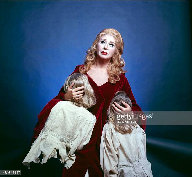 Operatic soprano Beverly Sills in costume starring in Bellini's Norma in 1974