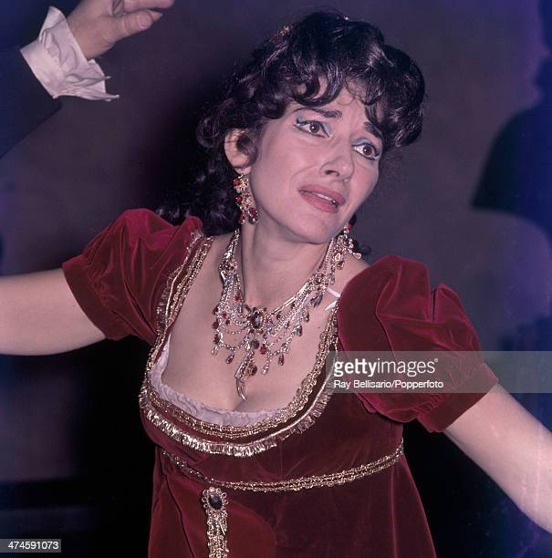 Operatic soprano Maria Callas as Tosca at Covent Garden London on 20th January 1964