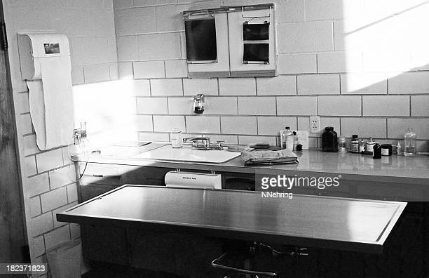 operating room in veterinary hospital 1959, retro