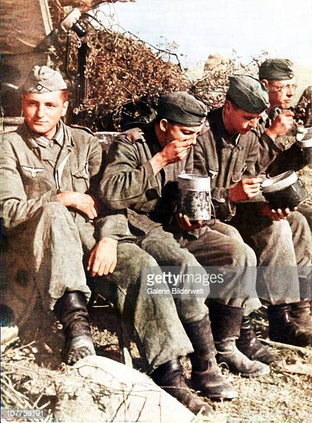 Operation Barbarossa A group of Wehrmacht soldiers re havin g lunchfrom their boxes 1942 Over 45 million troops of the Axis powers participated in...