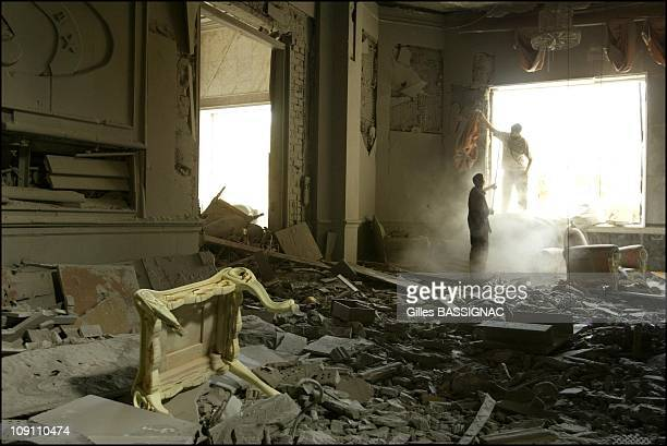 Operation Iraqi Freedom Iraqis Loot The Presidential Palace Of Saddam Hussein On April 12 2003 In Baghdad Iraq