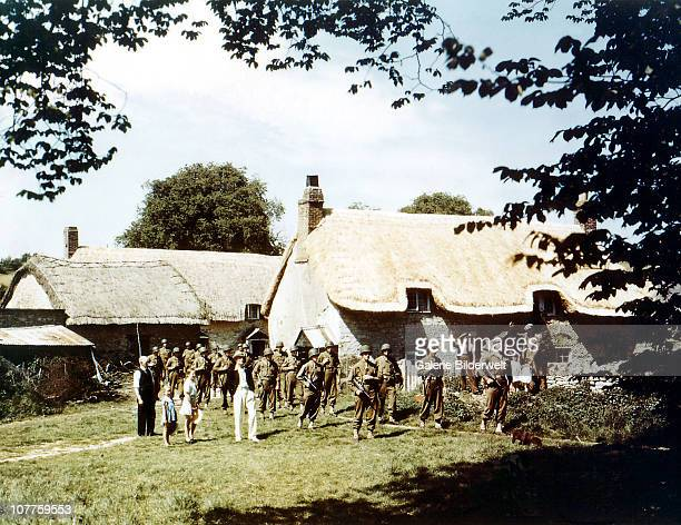 Operation Overlord Normandy United States Army troops train in the English countryside in preparation of the invasion of Normandy France May 1944 In...