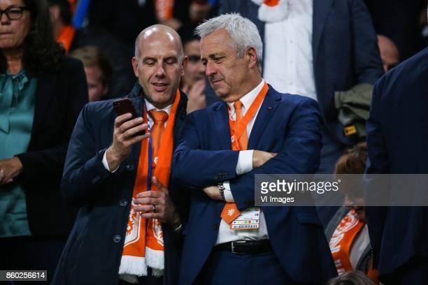 operationeel directeur betaald voetbal Gijs de Jong commercieel directeur JeanPaul Decossaux during the FIFA World Cup 2018 qualifying match between...