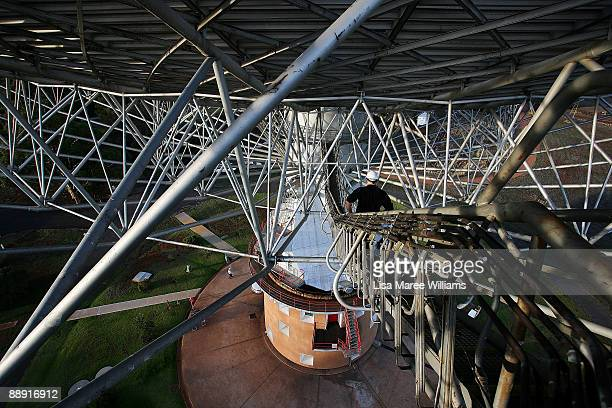Operations Scientist John Sarkissian walks along a ramp at the Australian Commonwealth Scientific and Industrial Research Organisation's Australia...