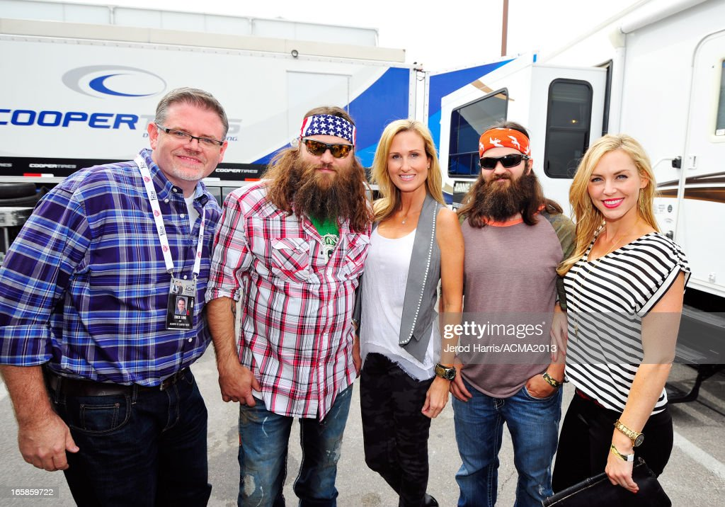 ACM Operations VP Erick Long and Willie Robertson, Korie Robertson, Jep Robertson and Jessica Robertson of Duck Dynasty attend The ACM Experience during the 48th Annual Academy of Country Music Awards at the Orleans Arena on April 6, 2013 in Las Vegas, Nevada.