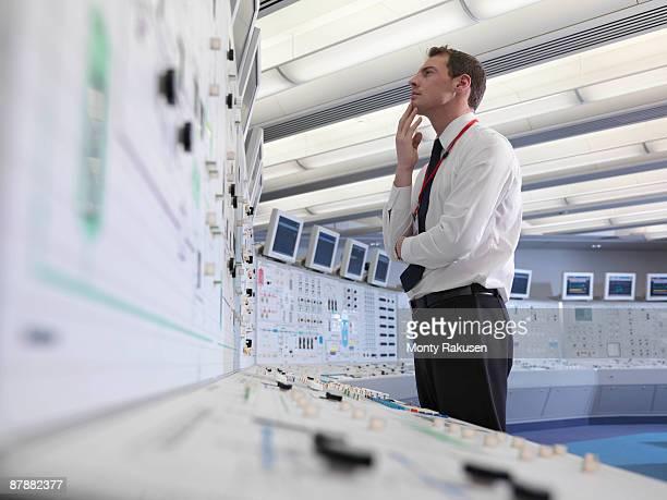 Operator working in control room