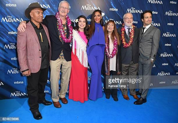 Opetaia Foa'i director John Musker Auli'i Cravalho Nicole Scherzinger producer Osnat Shurer director Ron Clements and LinManuel Miranda attend the UK...