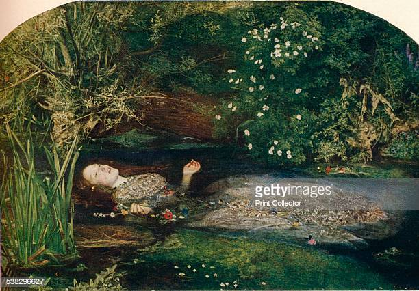 Ophelia 18512 Here Millais shows a scene from Shakespeare's Hamlet in which Ophelia drowns herself in a stream after been driven out of her mind when...