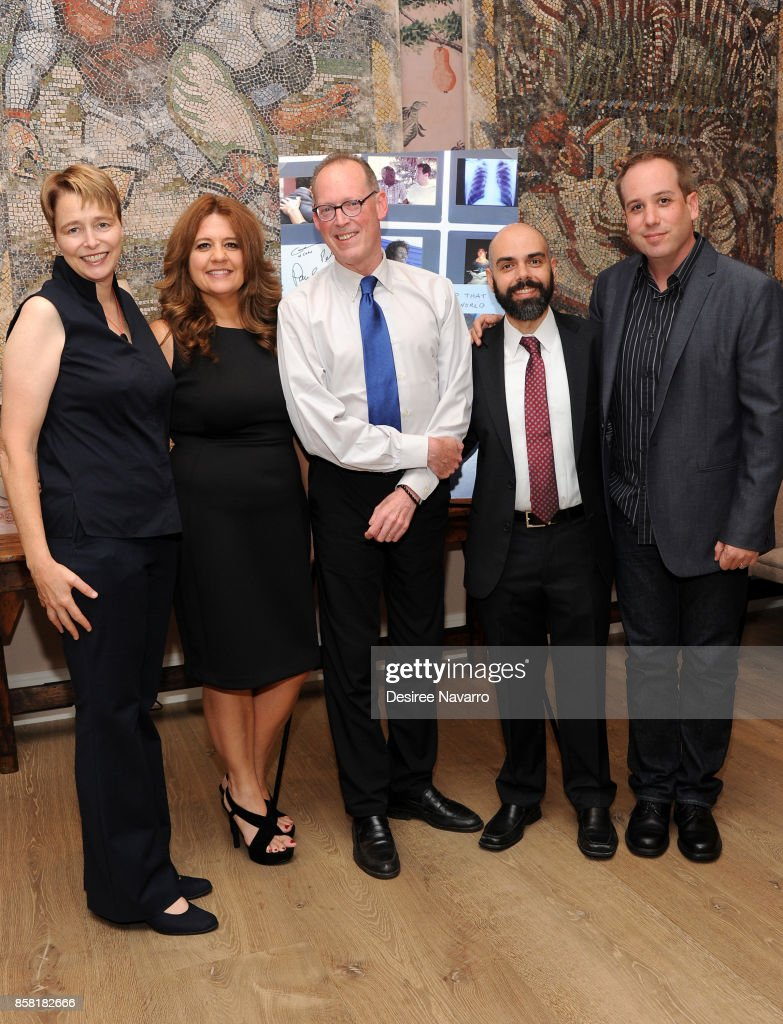 Ophelia Dahl, Cori Shepherd Stern, Dr. Paul Farmer, Pedro Kos and Kief Davidson attend 'Bending The Arc' New York Screening at the Whitby Hotel on October 5, 2017 in New York City.