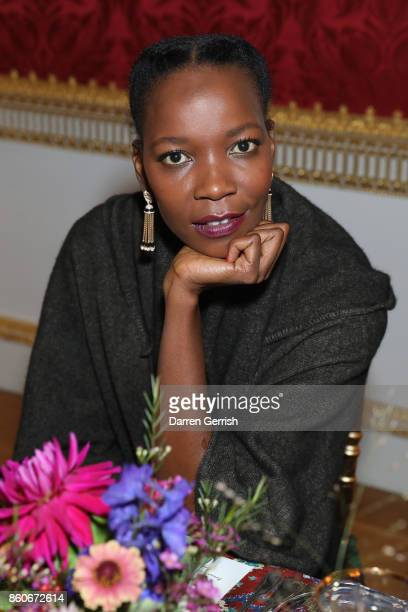 Ophelia Kumbe attends Giampiero Bodino's 'Beauty Is My Favourite Colour' cocktails and dinner evening at Spencer House on October 11 2017 in London...