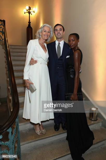 Ophelia Kumbe Guido Taroni and Catherine Loewe attends Giampiero Bodino's 'Beauty Is My Favourite Colour' cocktails and dinner evening at Spencer...