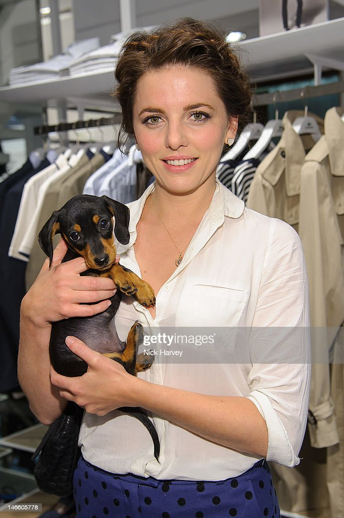 Ophelia Lovibond and Frankie attends the launch of the Lacoste flagship store on June 20, 2012 in London, England.