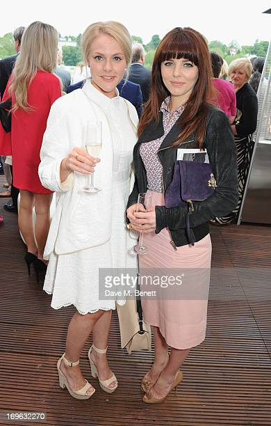 Ophelia Lovibond and guest attends at the Audi Royal Polo Challenge 2013 at Chester Racecourse on May 29 2013 in Chester England