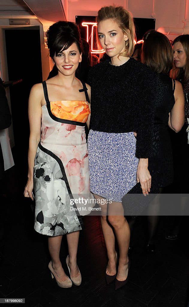 Ophelia Lovibond (L) and Vanessa Kirby attend the opening of the Dior Beauty Boutique in Covent Garden on November 14, 2013 in London, England.