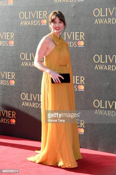 Ophelia Lovibond arrives for The Olivier Awards 2017 at the Royal Albert Hall on April 9 2017 in London England