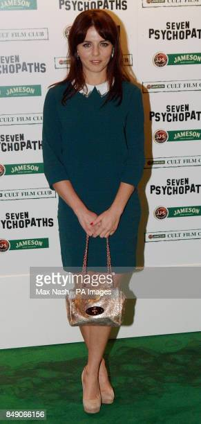 Ophelia Lovibond arriving at the Gala Premiere of Seven Psychopaths hosted by the Jameson Cult Film Club at Oval Space in Bethnal Green London