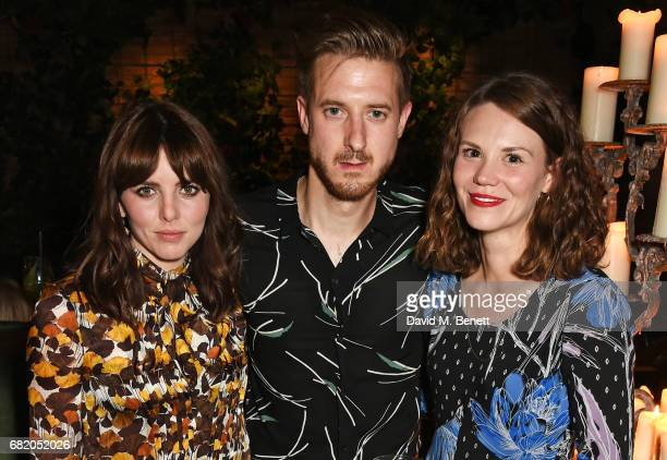 Ophelia Lovibond Arthur Darvill and Ines De Clercq attend the launch of The Curtain in Shoreditch on May 11 2017 in London England
