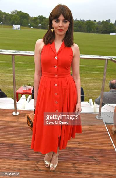 Ophelia Lovibond attends the Audi Polo Challenge at Coworth Park on May 6 2017 in Ascot United Kingdom