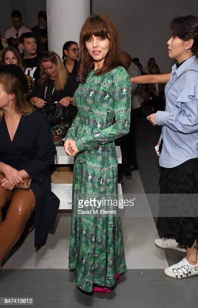 Ophelia Lovibond attends the Bora Aksu show during London Fashion Week September 2017 at BFC Show Space on September 15 2017 in London England