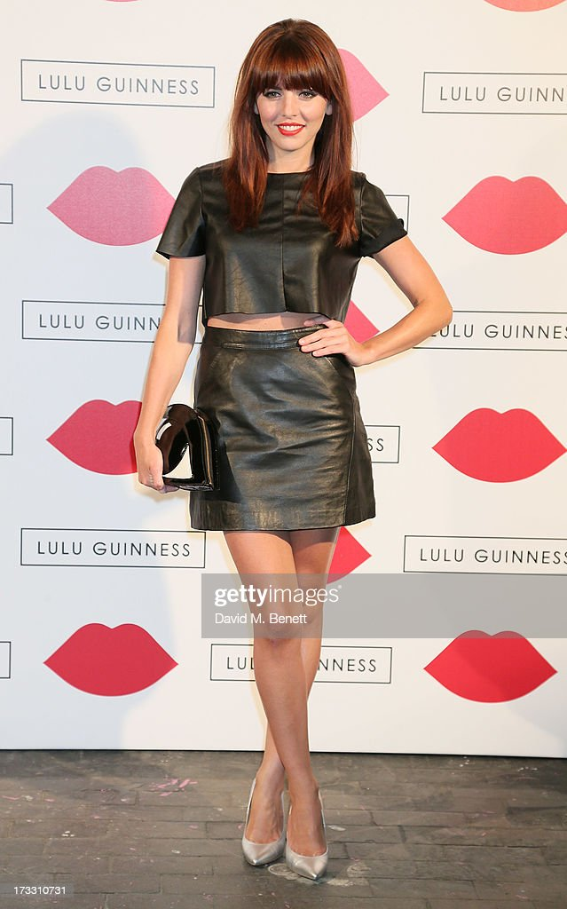 Ophelia Lovibond attends the Lulu Guinness Paint Project in collaboration with Beautiful Crime and their artist Joseph Steele at The Old Sorting...