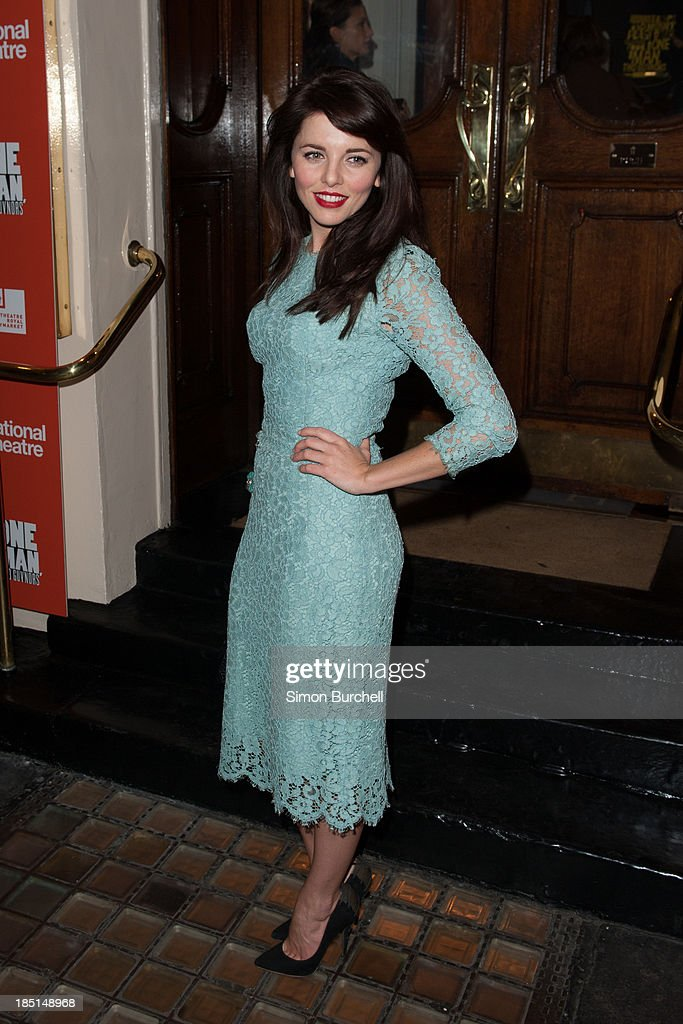 Ophelia Lovibond attends the press night for the new cast of 'One Man, Two Guvnors' at Theatre Royal on October 17, 2013 in London, England.
