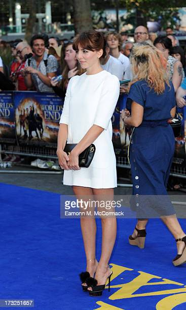 Ophelia Lovibond attends the World Premiere of 'The World's End' at Empire Leicester Square on July 10 2013 in London England