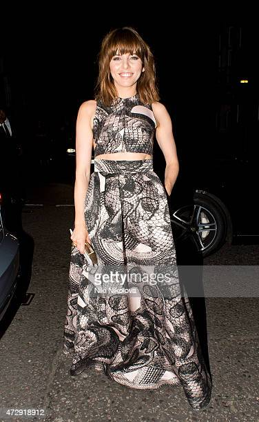 Ophelia Lovibond is seen arriving at the Grosvenor hotel Park Lane on May 10 2015 in London England