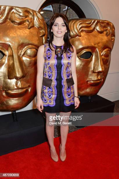 Ophelia Lovibond poses in the press room at the BAFTA Television Craft Awards at The Brewery on April 27 2014 in London England