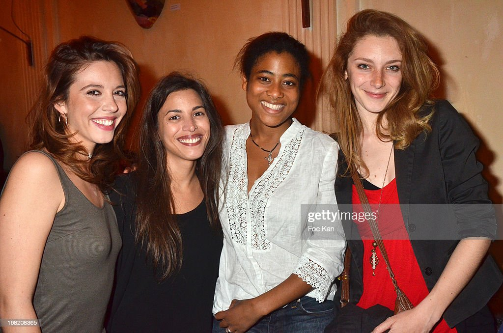 Ophelie Bazillou, Anissa Allali, Ines Prisca and Laura Galley attend the 'Speakeasy' Party At The Lefty Bar Restaurant on May 6, 2013 in Paris, France.